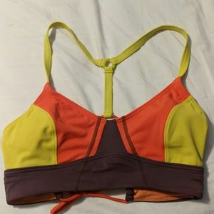 Prana thistle orange/ and yellow bikini top. Small